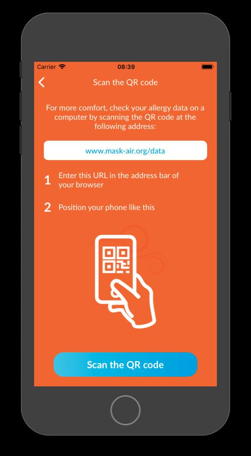 MASK-air application screenshot